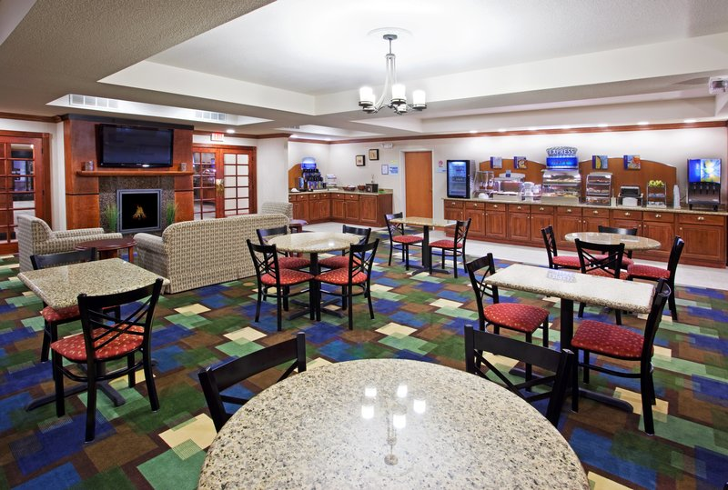 Holiday Inn Express & Suites East Lansing-Our guests love our complimentary hot breakfast bar.<br/>Image from Leonardo