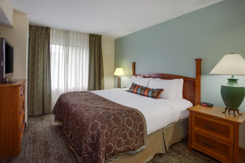 Staybridge Suites Corning-One Bedroom King Suite Bedroom<br/>Image from Leonardo