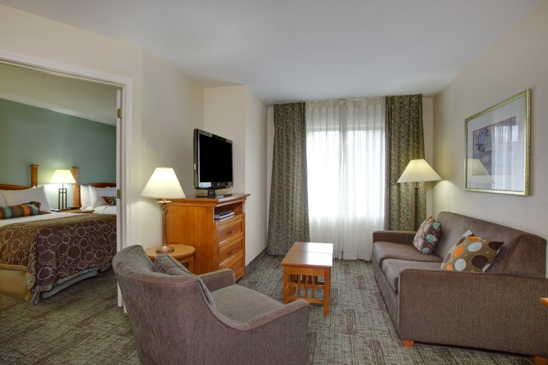 Staybridge Suites Corning-One Bedroom Suite with Two Double Beds Living Area<br/>Image from Leonardo