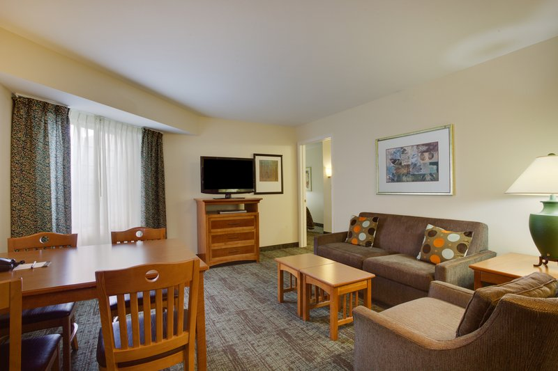 Staybridge Suites Corning-Two Bedroom Suite Living Area<br/>Image from Leonardo