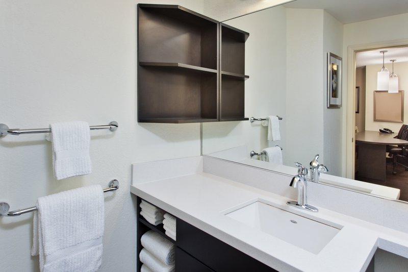Candlewood Suites Denver West Federal Ctr-Roomy Guest Bathroom<br/>Image from Leonardo