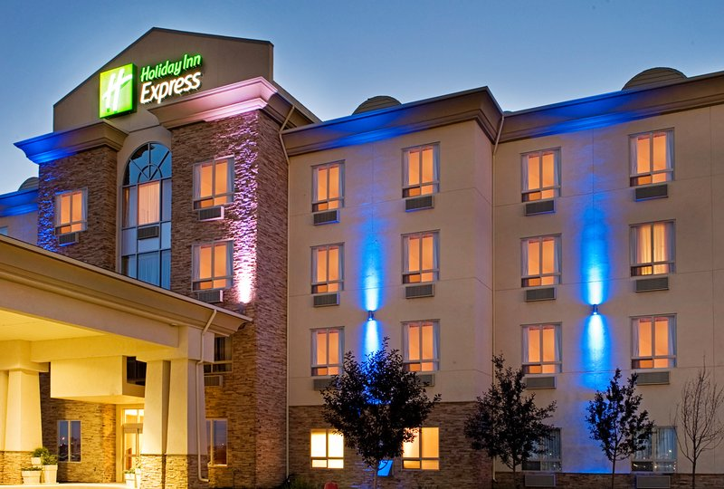 Holiday Inn Express & Suites Grande Prairie-Hotel Exterior warmed with night time lighting<br/>Image from Leonardo