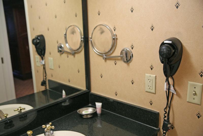 New York-New York Hotel-Bathroom Hairdryer And Mirror<br/>Image from Leonardo