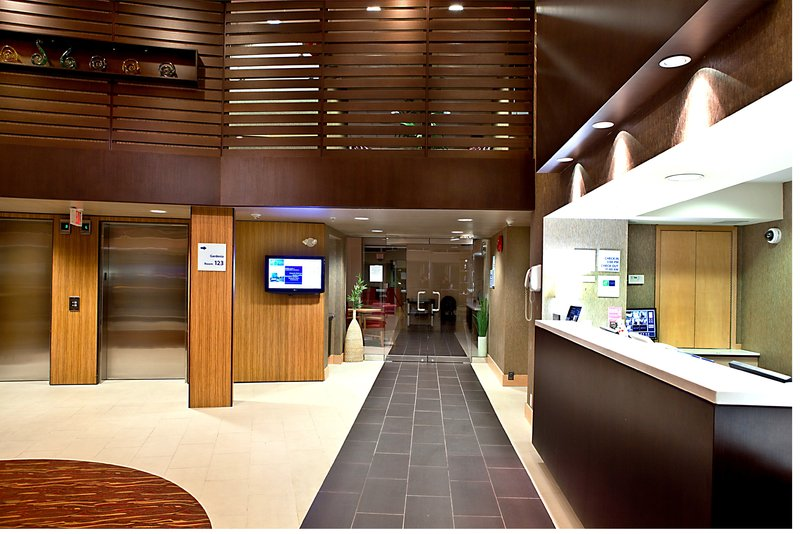Holiday Inn Express & Suites Langley-Renovated Holiday Inn Express & Suites Hotel Lobby and Front Desk<br/>Image from Leonardo