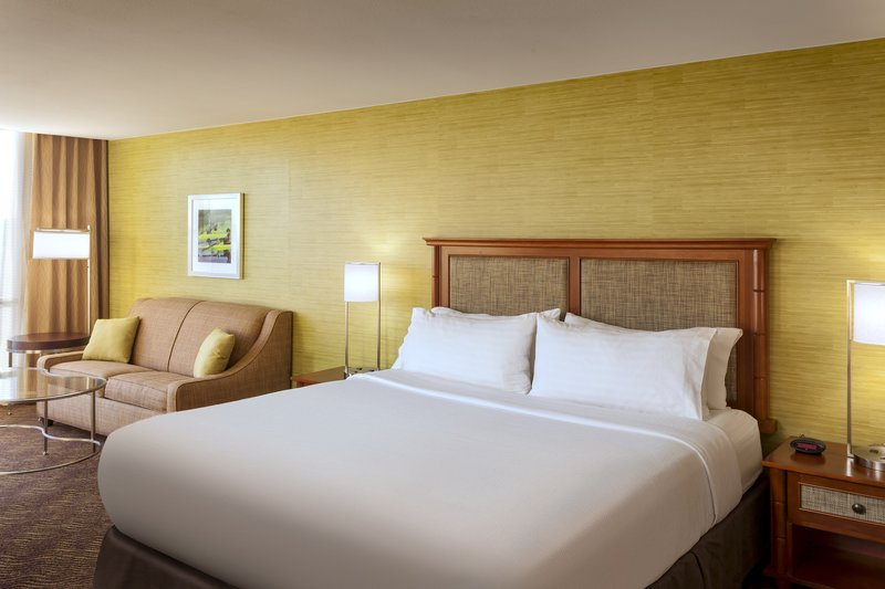 Crowne Plaza Austin - Town Lake-Relax and recharge in one of our spacious king rooms.<br/>Image from Leonardo