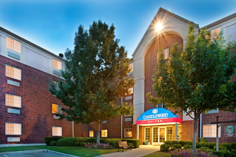 Candlewood Suites Arlington-Hotel Exterior Front Entrance Night<br/>Image from Leonardo