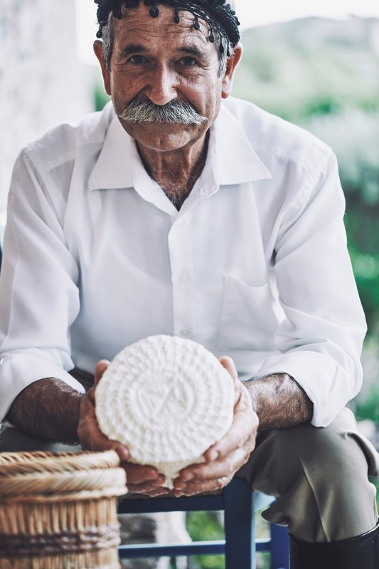 Blue Palace; a Luxury Collection Hotel-Cretan Feast - Cheese Making<br/>Image from Leonardo