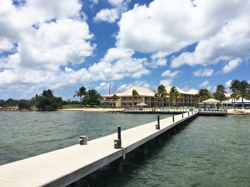 Holiday Inn Resort Grand Cayman-Beach, dock, pier, fishing, paradise, North Sound, <br/>Image from Leonardo