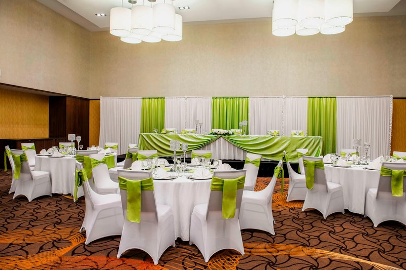 Courtyard Calgary Airport-Stampede Ballroom - Wedding Reception Setup<br/>Image from Leonardo