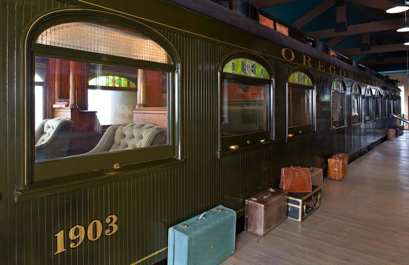 Holiday Inn West Yellowstone-Oregon Short Line Railroad Car<br/>Image from Leonardo