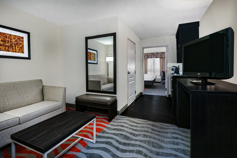 Holiday Inn Hotel & Suites College Station - Aggieland-Prop up on the sofa and enjoy your favorite show.<br/>Image from Leonardo