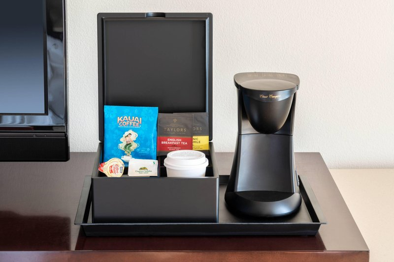 Kauai Marriott Resort-Guest Room Coffee/Tea Maker<br/>Image from Leonardo