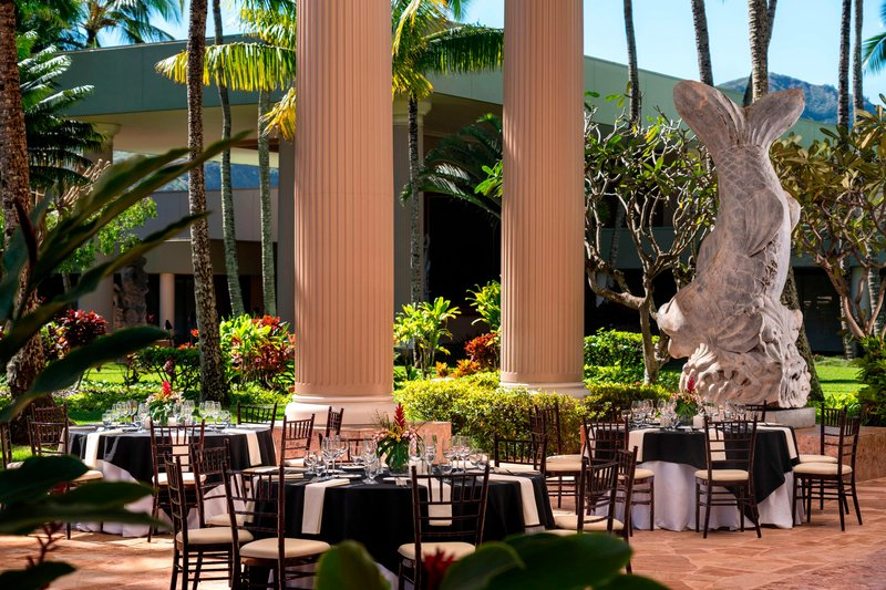 Kauai Marriott Resort-Puna Court - Lunch Setup<br/>Image from Leonardo