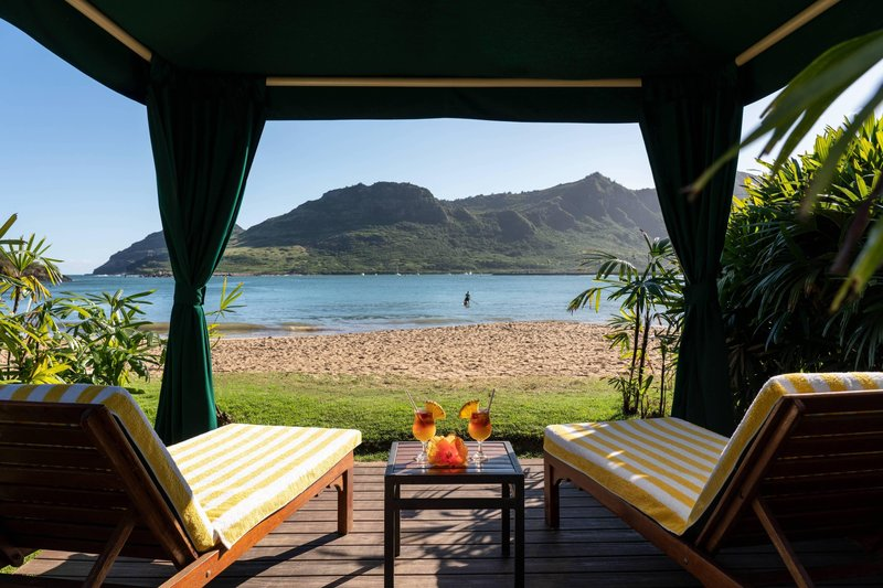 Kauai Marriott Resort-Private Beach Cabanas<br/>Image from Leonardo