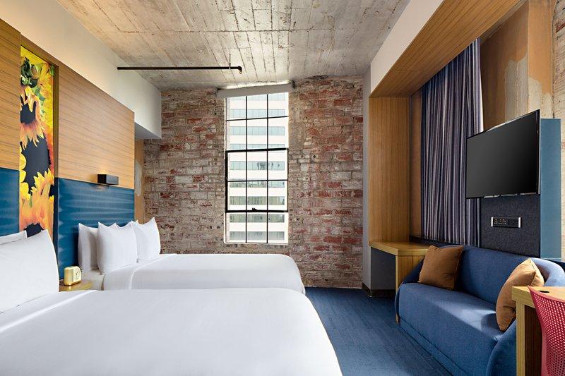 Aloft Dallas Downtown-Queen/Queen Aloft Guest Room<br/>Image from Leonardo