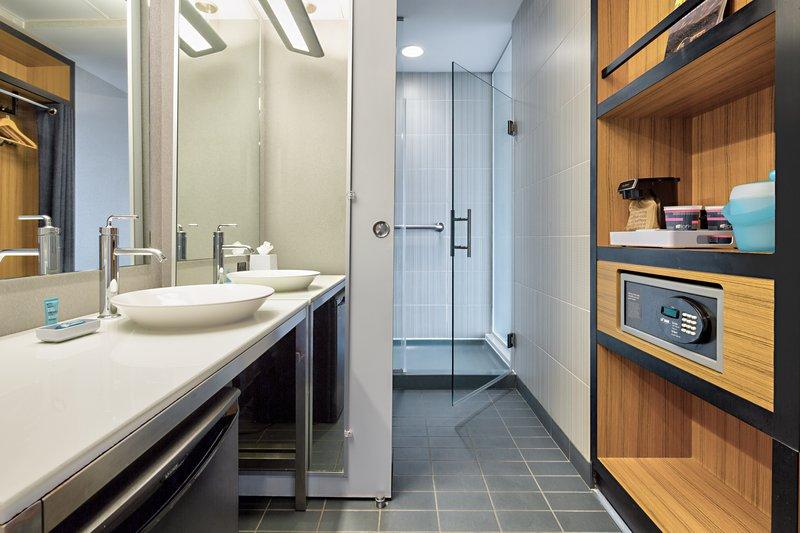 Aloft Dallas Downtown-Guest Bathroom<br/>Image from Leonardo