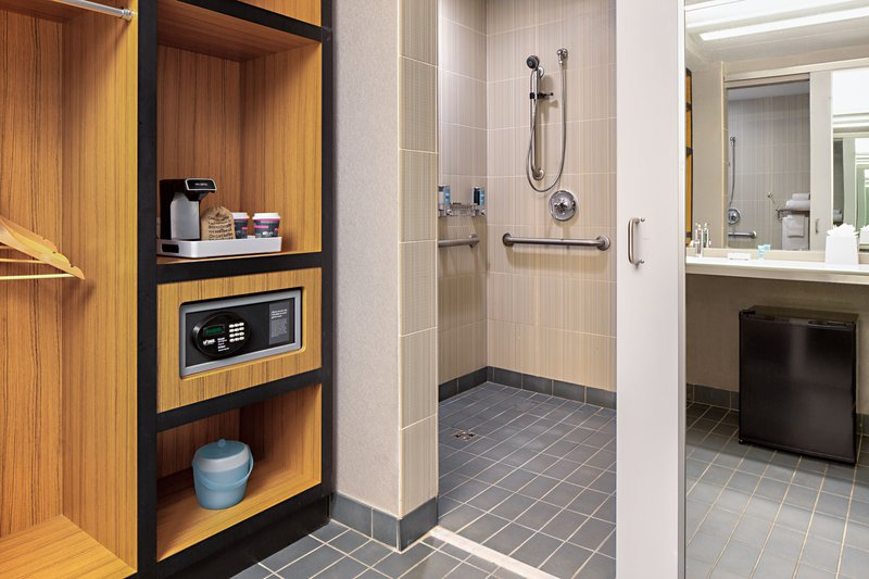 Aloft Dallas Downtown-Accessible Guest Bathroom<br/>Image from Leonardo