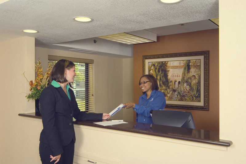 Candlewood Suites Indianapolis Dwtn Medical Dist-The front desk is available 24 hours a day!<br/>Image from Leonardo