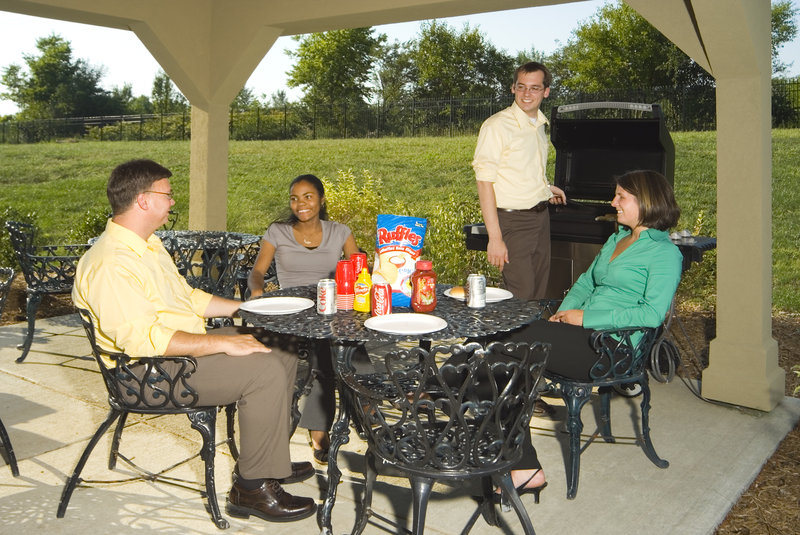 Candlewood Suites Indianapolis Dwtn Medical Dist-Candlewood Gazebo - a great place to meet with friends!<br/>Image from Leonardo