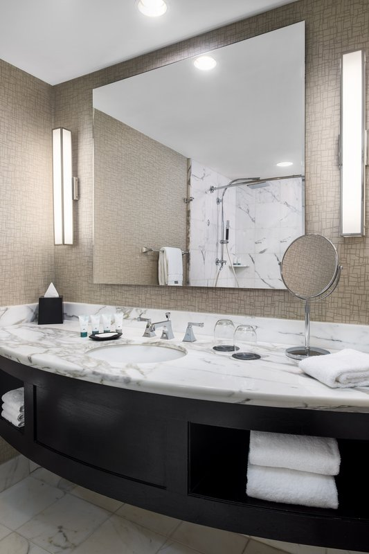 The Westin St. Francis - Tower Building Guest Bathroom <br/>Image from Leonardo