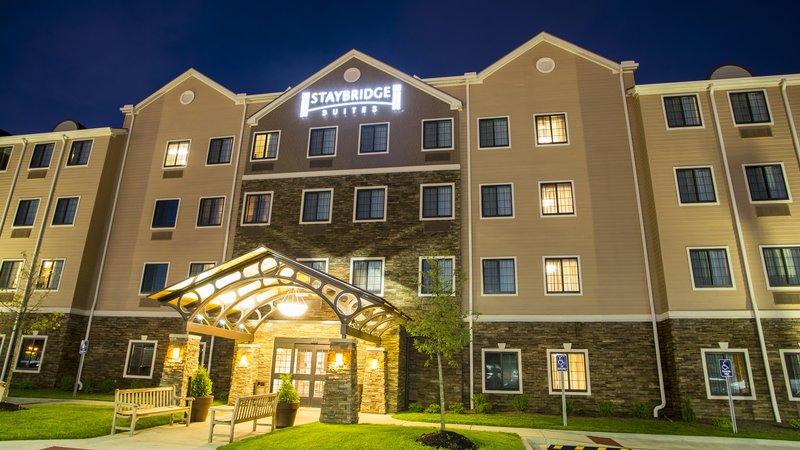 Staybridge Suites Lexington-Staybridge Suites Lexington KY exterior at night<br/>Image from Leonardo