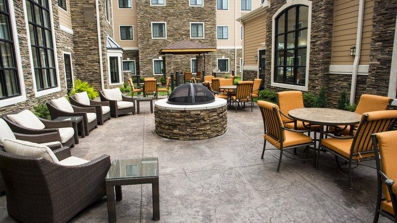 Staybridge Suites Lexington-Staybridge Suites Lexington KY outside courtyard<br/>Image from Leonardo