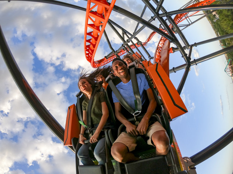 Holiday Inn Express & Suites Tampa/Rocky Point Island-Busch Gardens® Tampa Bay triple-launch steel coaster Tigris<br/>Image from Leonardo