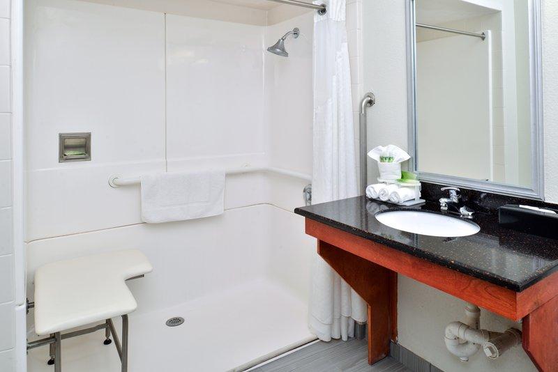 Holiday Inn Express Providence - North Attleboro-Handicap Roll-Inn Shower<br/>Image from Leonardo
