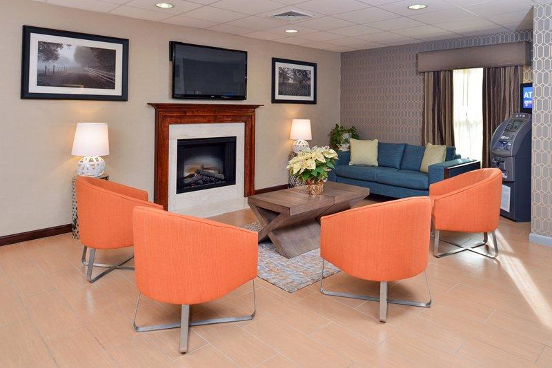 Holiday Inn Express Providence - North Attleboro-Hotel Lobby<br/>Image from Leonardo