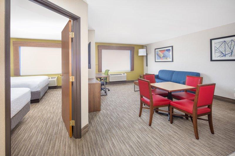 Holiday Inn Express & Suites Bishop-Bedroom and Living Room<br/>Image from Leonardo