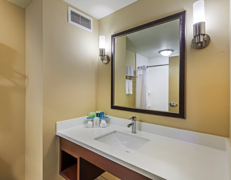 Holiday Inn Express & Suites Eagle Pass-Guest Bathroom<br/>Image from Leonardo