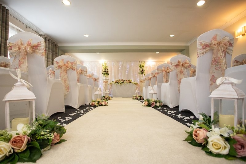 Holiday Inn A55 Chester West-Civil Ceremony Setup<br/>Image from Leonardo