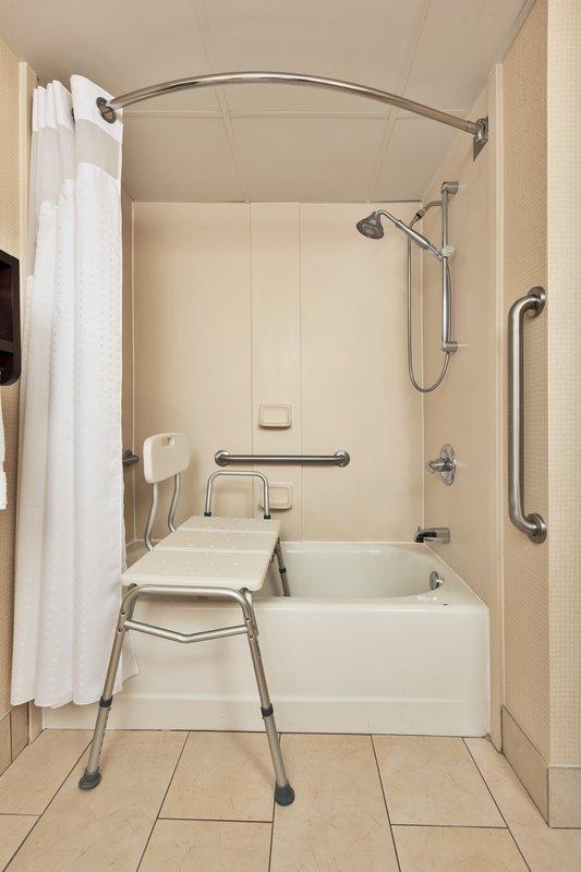 Holiday Inn Express Winston-Salem-ADA/Handicapped Guest Bathroom with Transfer Tub<br/>Image from Leonardo