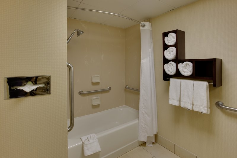 Holiday Inn Express Winston-Salem-Guest Bathroom<br/>Image from Leonardo