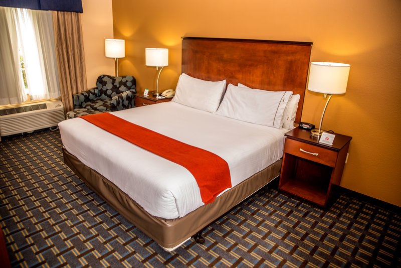 Holiday Inn Express & Suites Cocoa Beach-This is our beautiful  and spacious king bed room.<br/>Image from Leonardo