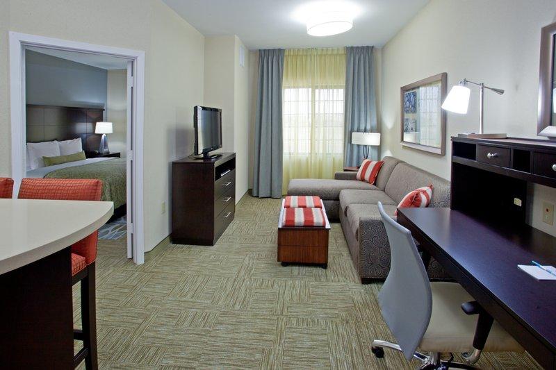 Staybridge Suites Houston Stafford - Sugar Land-Single Bed Guest Room<br/>Image from Leonardo