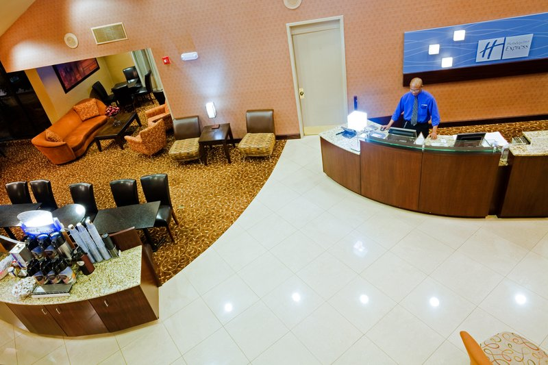 Holiday Inn Express Winston-Salem Downtown West-Front Desk staff to assist with our complimentary business center<br/>Image from Leonardo