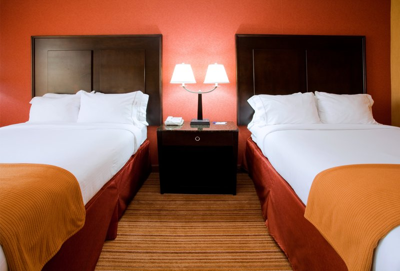 Holiday Inn Express Winston-Salem Downtown West-Family Friendly 2 Double Beds Bedside<br/>Image from Leonardo