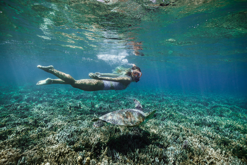 Le Meridien Ile Des Pins-Snorkeling in the lagoon<br/>Image from Leonardo