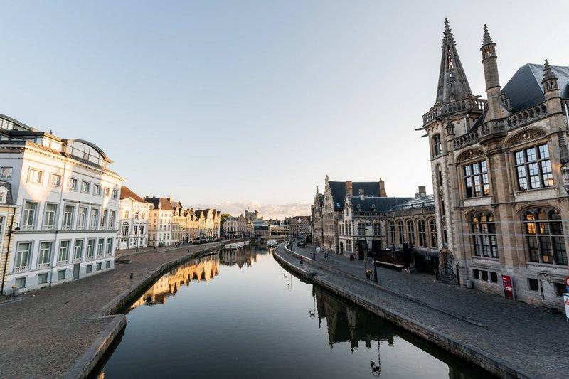 Ghent Marriott Hotel-Exterior - River Lys<br/>Image from Leonardo