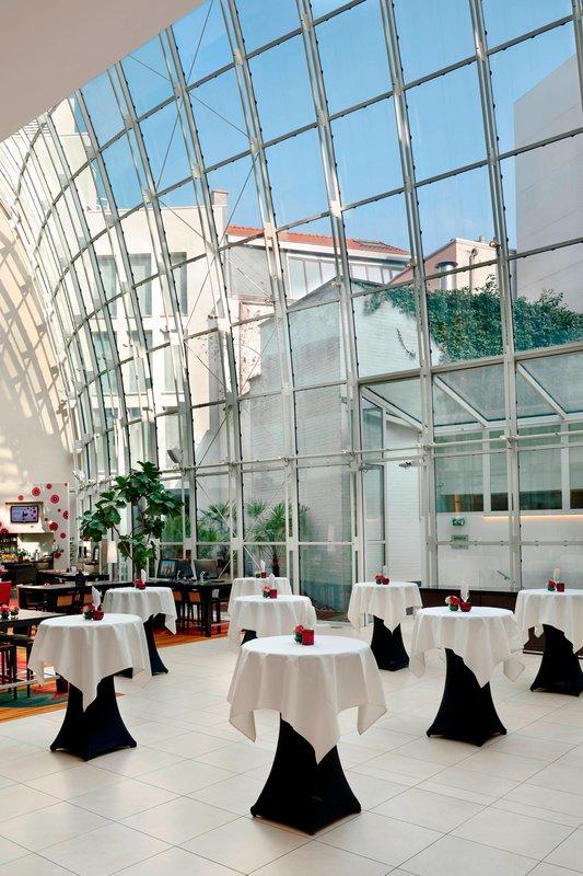 Ghent Marriott Hotel-Atrium Rreception<br/>Image from Leonardo