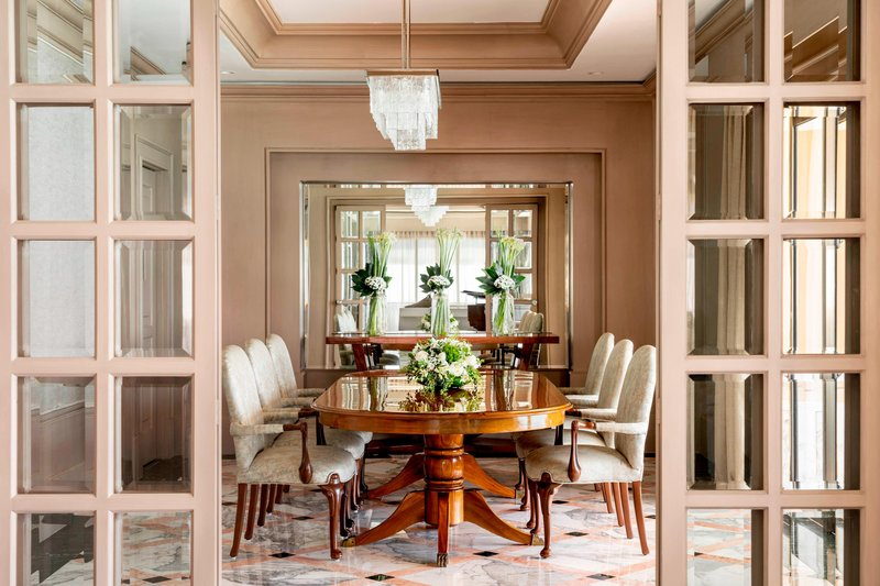 The Ritz-Carlton Cancun - Suite Dining room <br/>Image from Leonardo