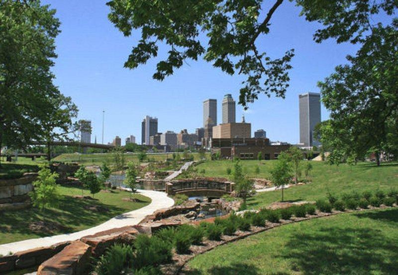 Holiday Inn Tulsa City Center-Downtown Tulsa Skyline<br/>Image from Leonardo