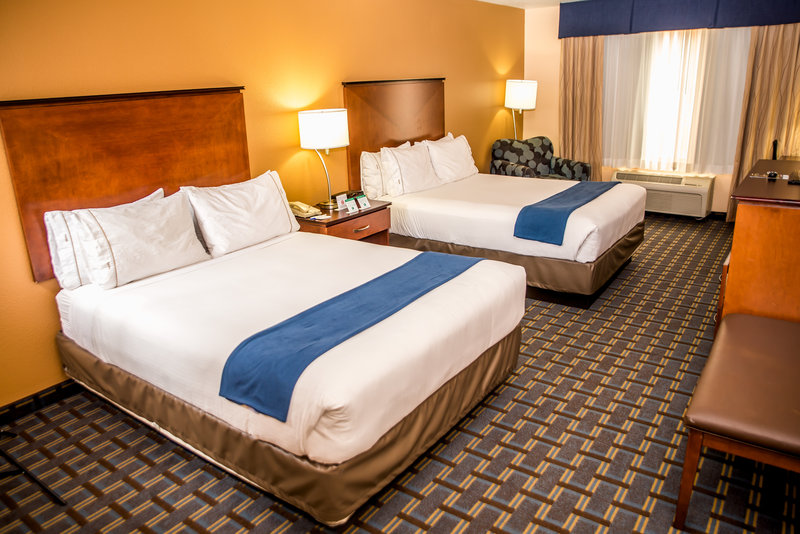 Holiday Inn Express & Suites Cocoa Beach-Come stay in our beautiful and spacious two queen bedded room.<br/>Image from Leonardo