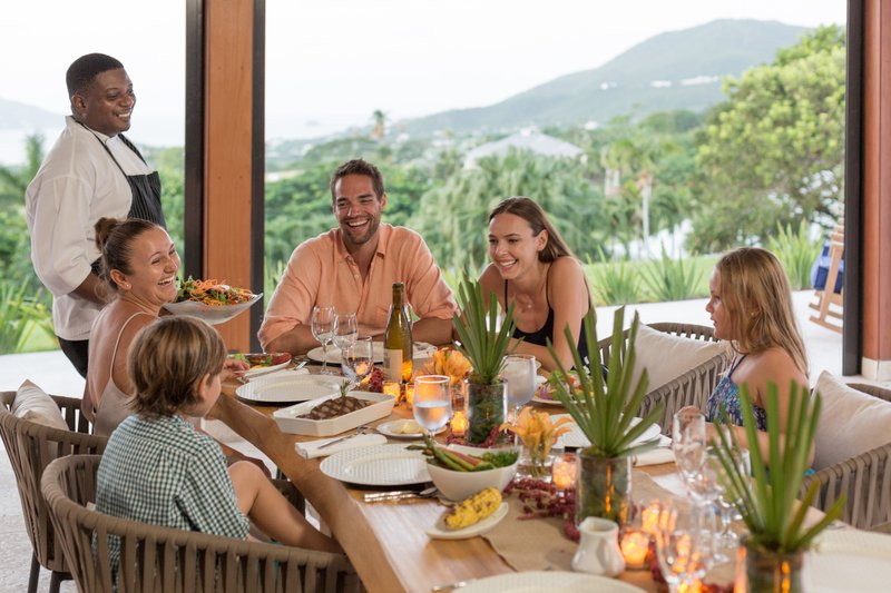 Four Season Resort Nevis-NEV_ VILLA DINING<br/>Image from Leonardo