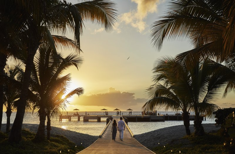 Four Season Resort Nevis-NEV_PEOPLE WALKING THE PIER<br/>Image from Leonardo