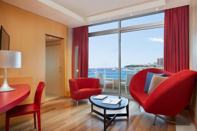 Le Meridien Beach Plaza-Design Suite Living Room<br/>Image from Leonardo
