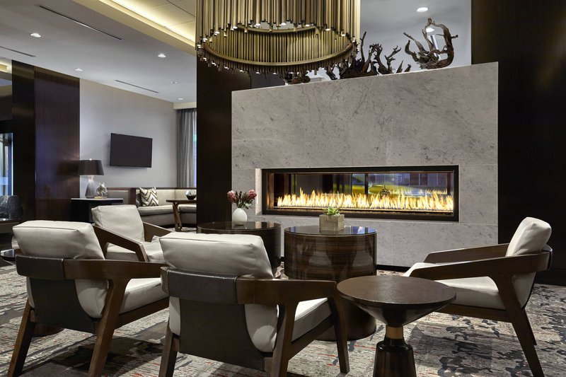 Calgary Marriott Downtown Hotel-Lobby - Fireplace<br/>Image from Leonardo