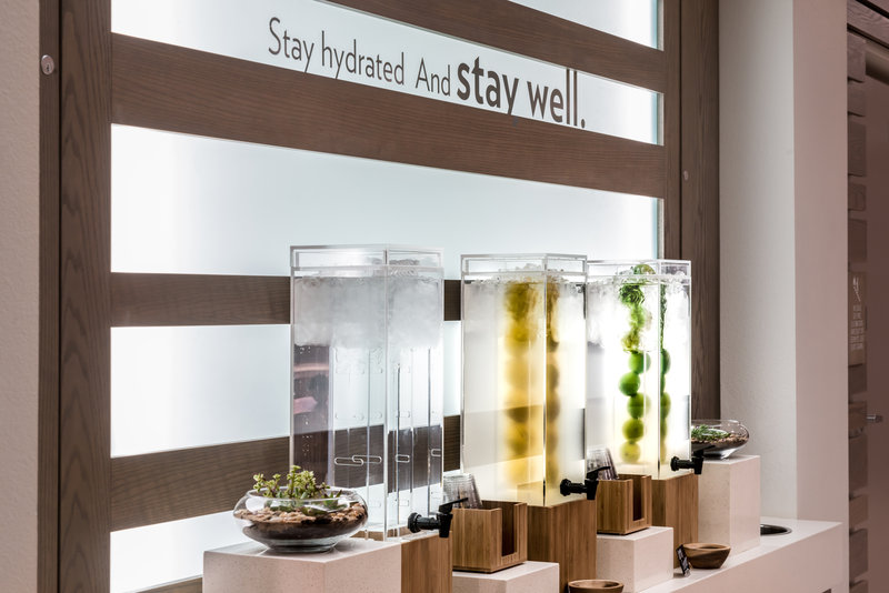 Holiday Inn Express & Suites Ann Arbor-Stay hydrated and stay well water Bar<br/>Image from Leonardo