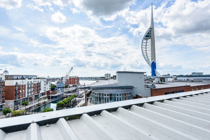 Holiday Inn Express Portsmouth - Gunwharf Quays-View from Hotel<br/>Image from Leonardo